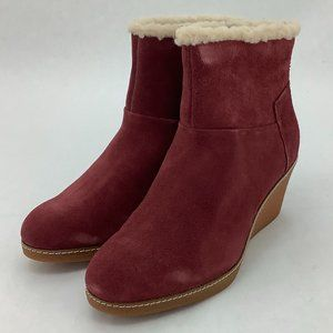 Hush Puppies   Women's Ankle Boots   Burgundy